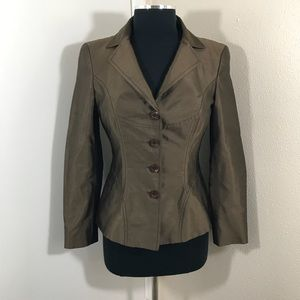 Escada Brown Button Down Jacket. Size 36.